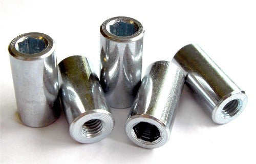 Cylindrical Wheel Nut 13mm od X 30mm (Sold Individually)