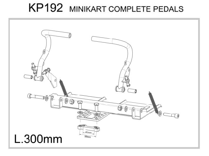 ADJUSTABLE PEDAL PLATFORM KIT , CADET SIZE.
