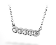 Hearts on Fire Liliana Milgrain Diamond Bar Necklace