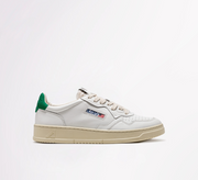 AUTRY - SNEAKERS LOW IN PELLE BIANCO - TAG VERDE
