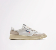 AUTRY - SNEAKERS LOW IN PELLE E SUEDE BIANCO