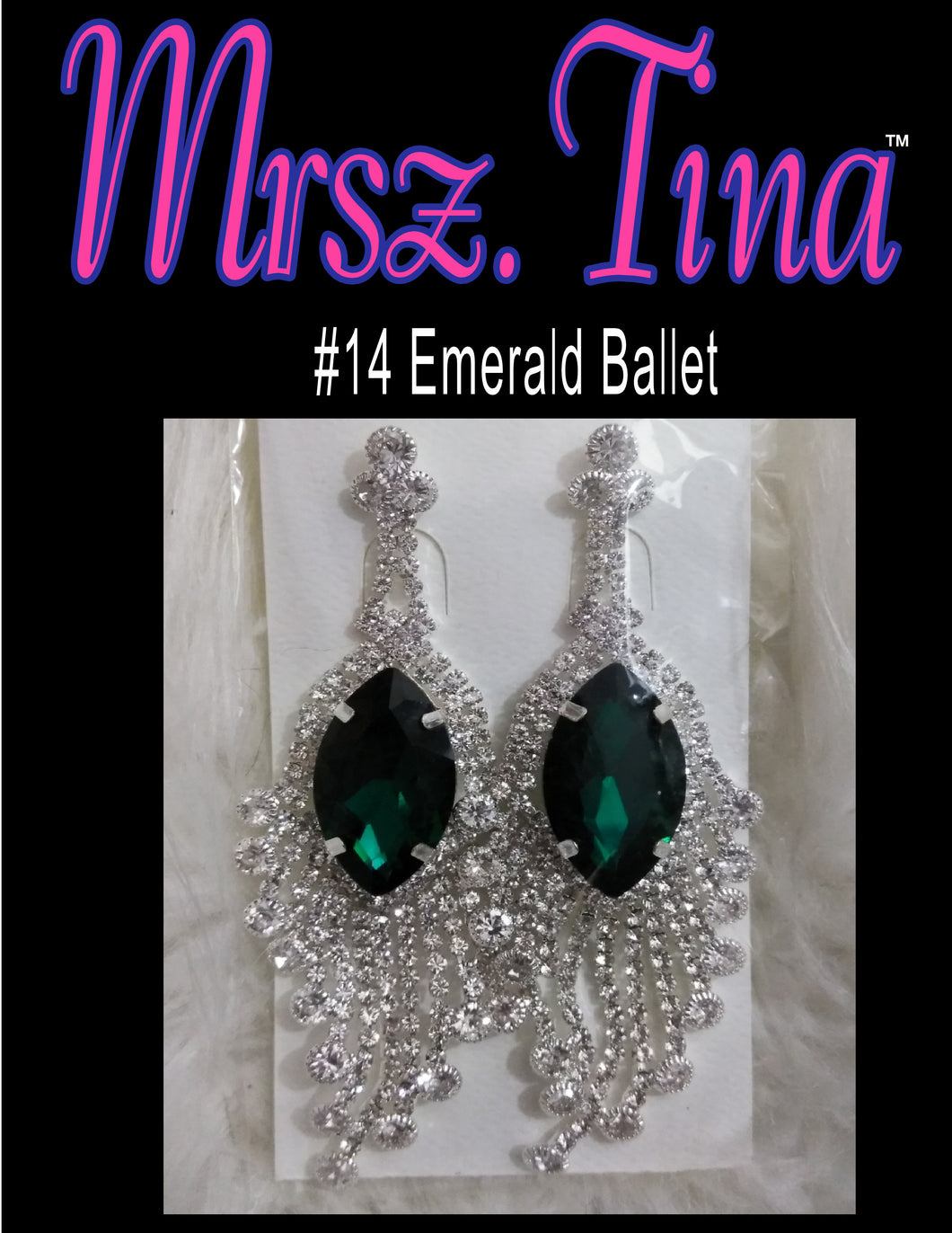EARRING COLLECTION #14 Emerald Ballet