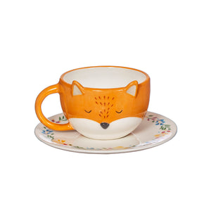 FINLEY FOX TEA CUP AND SAUCER SET