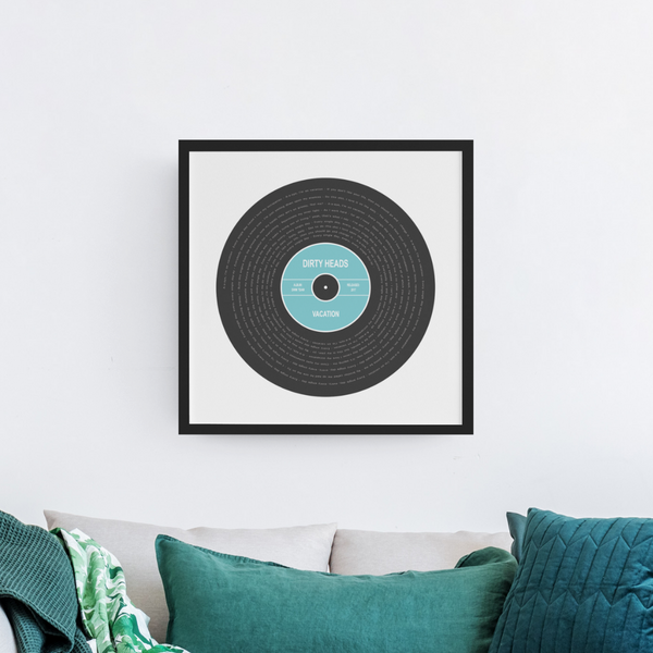 Custom Vinyl Lyric Print - Custom Debuts