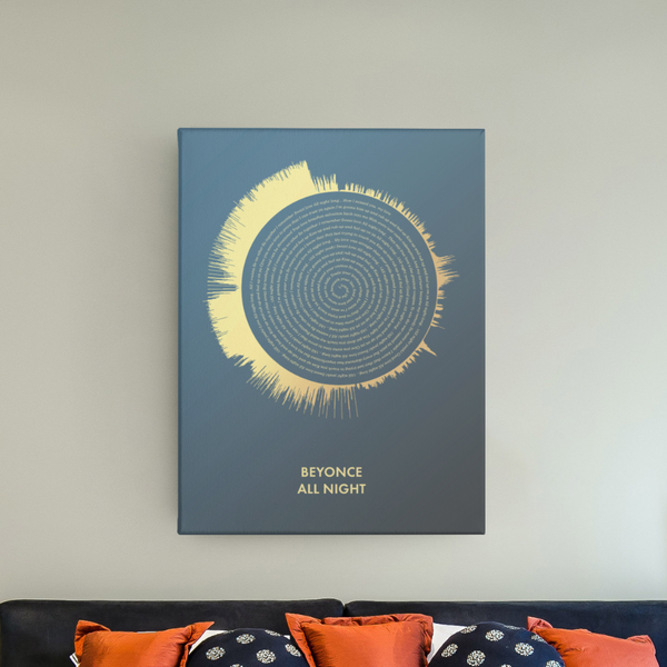 Custom Spiral Lyric Print - Custom Debuts