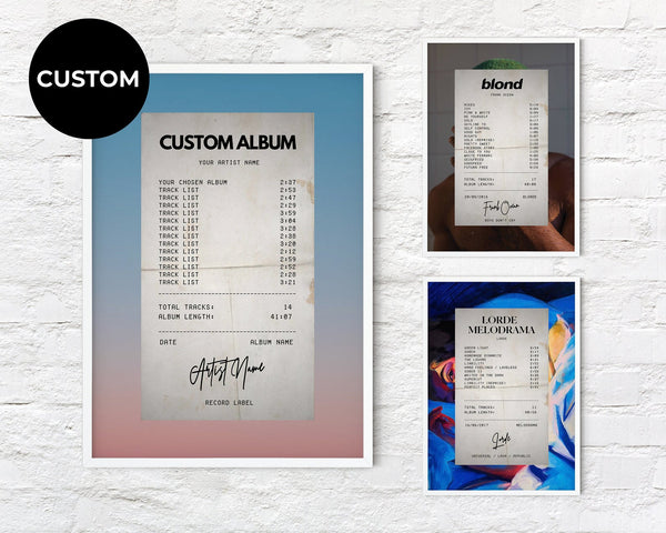Custom Album Receipt - Custom Debuts
