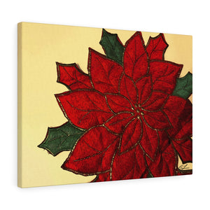 "Poinsettia Canvas Giclée 24"" x 18"" Gallery Wrapped Print"