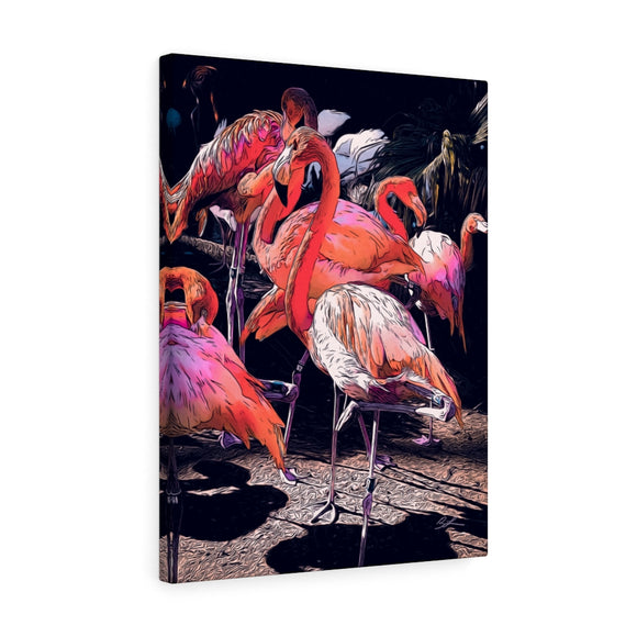 Pink Flamingos Canvas Artwork 18