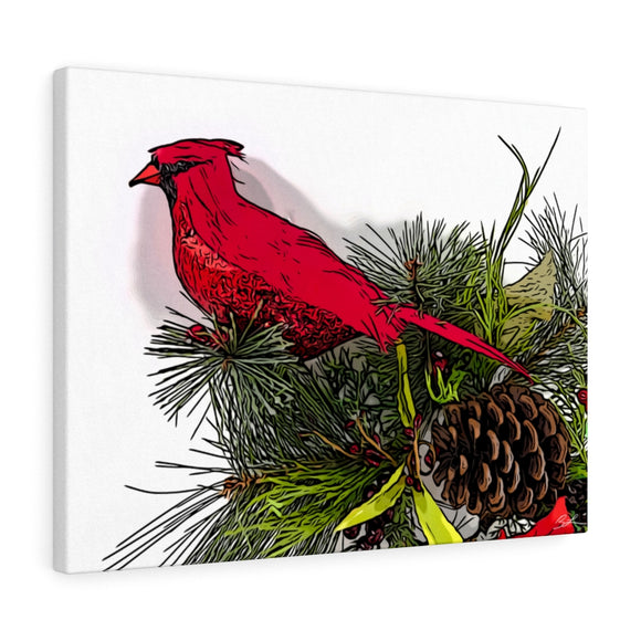 Cardinal & Pine Canvas Artwork 24