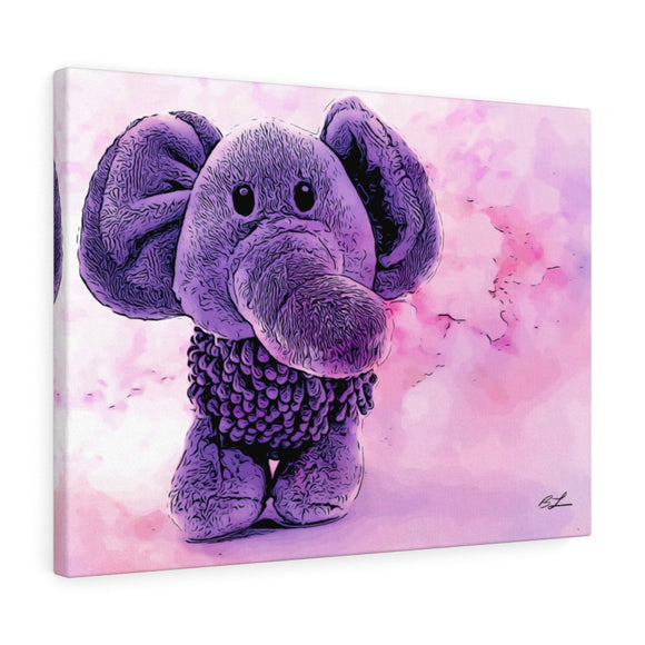 Purple Elephant Canvas Giclée 24