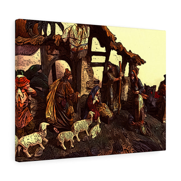 Christmas Nativity Canvas Giclée 24
