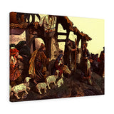 "Christmas Nativity Canvas Giclée 24"" x 18"" Gallery Wrapped Print"