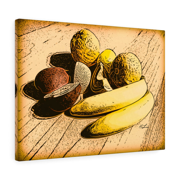 Fruit on Wood Canvas Giclée 24