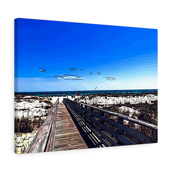 Beach Boardwalk Canvas Artwork 24
