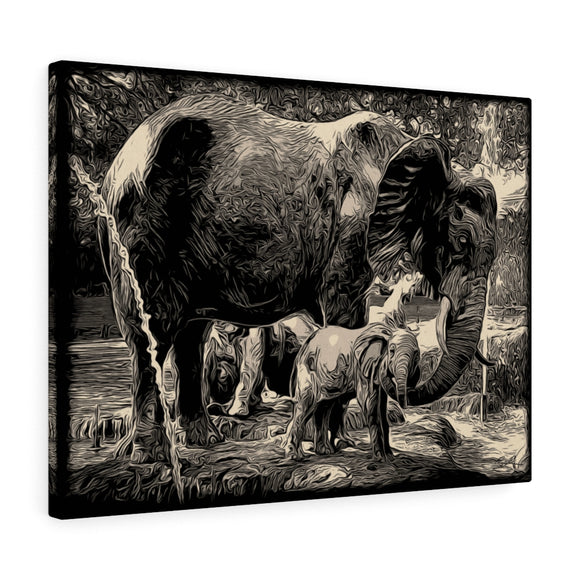 Elephants Canvas Artwork 24