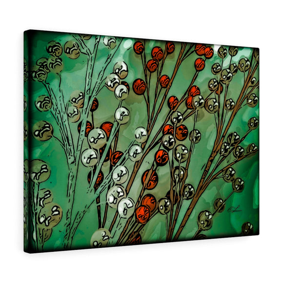 Red & Green Berries Canvas Giclée 24