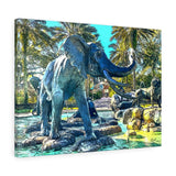 "Elephant Canvas Wall Art 24"" x 18"" Gallery Wrapped Gicleé Print"