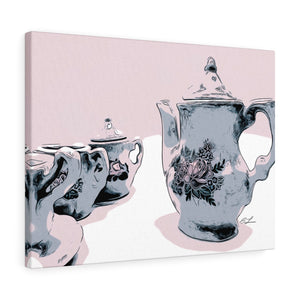 "Tea For Two Canvas Giclée 24"" x 18"" Gallery Wrapped Print"