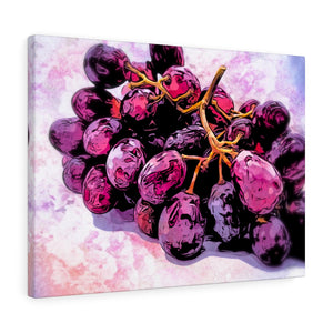 "Red Grapes Canvas Artwork 24"" x 18"" Gallery Wrapped Giclée Print"