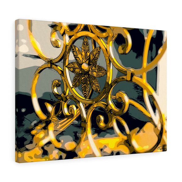 Golden Cast Iron Canvas Giclée 24