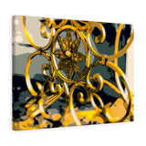 "Golden Cast Iron Canvas Giclée 24"" x 18"" Gallery Wrapped Print"