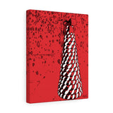 "Peppermint Swirl Canvas Giclée 11"" x 14"" Gallery Wrapped Print"