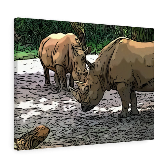 Rhinoceros Canvas Giclée 24