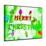 "Merry Christmas Canvas Artwork 24"" x 18"" Gallery Wrapped Gilcée Print"