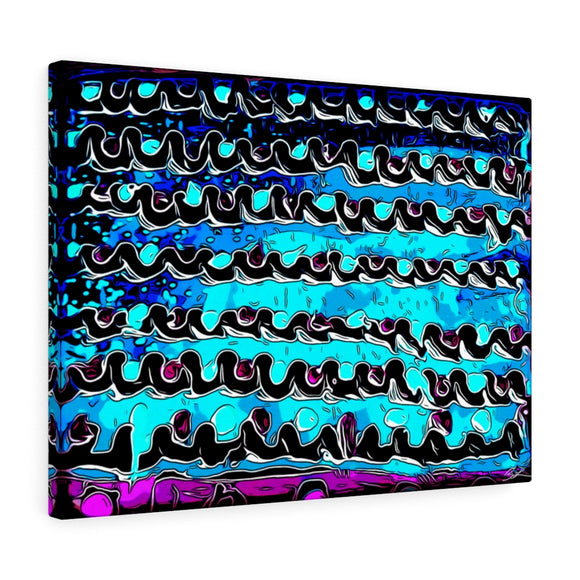 Blue Waves Canvas Artwork 24