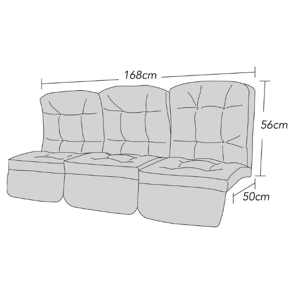 Tufted 3 Seater
