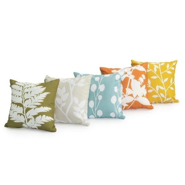 "18"" Cushion Covers 5 Piece Silhouettes Set"
