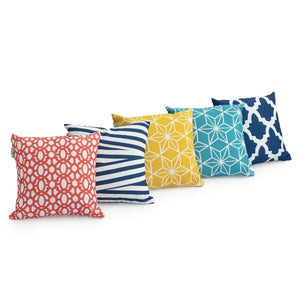 "18"" Cushion Covers 5 Piece Tile Set"