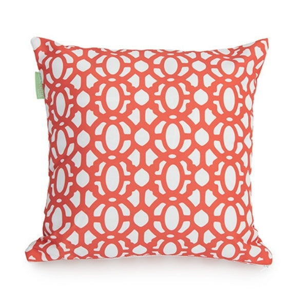 "18"" Cushion Cover Lattice Pattern - Coral"