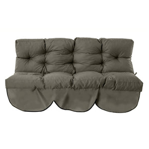 Plain Tufted 3 Seater
