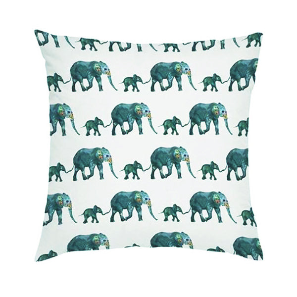 "18"" Cushion Cover Elephant D"