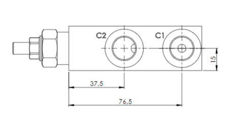Single Overcentre valve Dimensions AM FLUID POWER