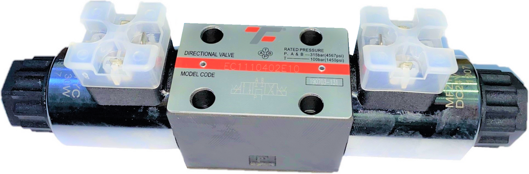 Directional Solenoid Valve CETOP 03 NG6 4/3 P>T, AB blocked 12VDC