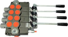 Load image into Gallery viewer, Monoblock Directional Control Valve, 4 Spool, 120 lpm, Open Centre Spool 04P120D1D1D1D1GKZ1