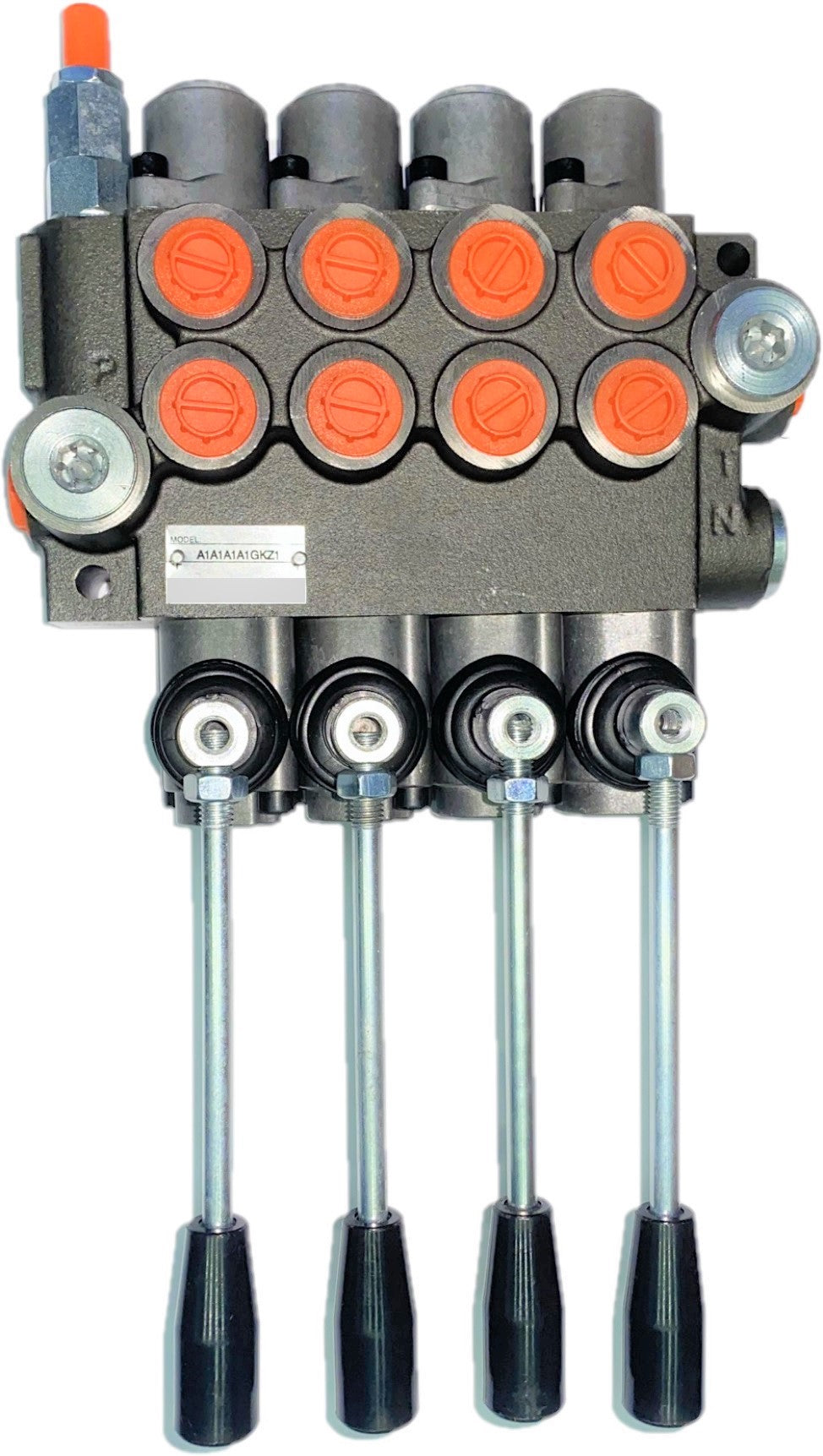 Monoblock Directional Control Valve, 4 Spool, 40 lpm, Closed Centre Spool 4P401A1A1A1A1GKZ1