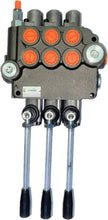 Load image into Gallery viewer, Monoblock Directional Control Valve, 3 Spool, 80 lpm, Open Centre Spool 3P801D1D1D1GKZ1
