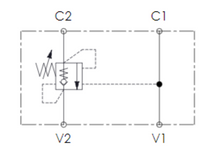 Load image into Gallery viewer, Single Overcentre valve Schematic