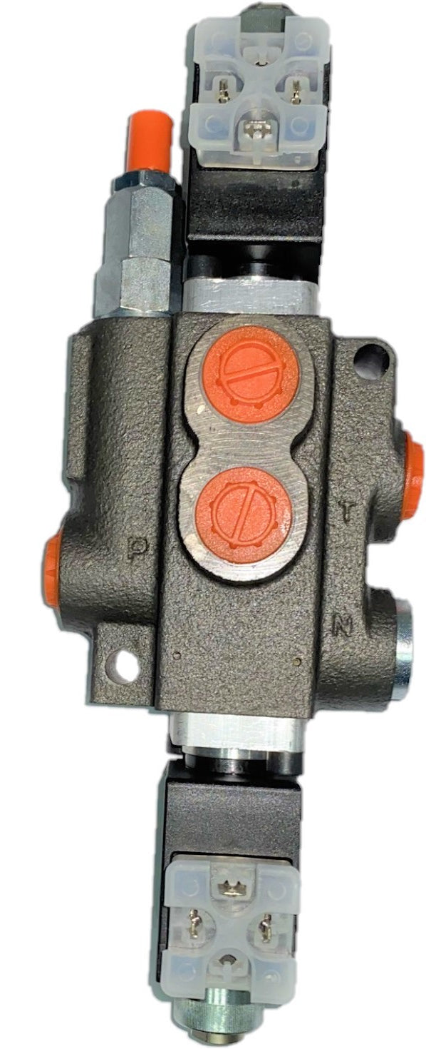 Monoblock Hydraulic Directional Control Valve, 1 Spool, 40 lpm, 12VDC, Closed Centre Spool