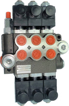 Load image into Gallery viewer, Monoblock Hydraulic Directional Control Valve, 3 Spool, 40 lpm, 12VDC, Open Centre Spool
