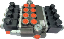 Load image into Gallery viewer, Monoblock Hydraulic Directional Control Valve, 4 Spool, 40 lpm, 24VDC, Closed Centre Spool