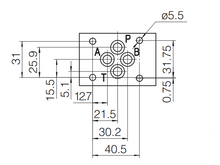 Load image into Gallery viewer, Directional Solenoid Valve CETOP 03 NG6 4/3 P>T, AB blocked 24VDC