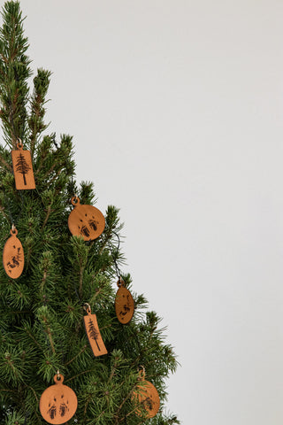 Leather Ornaments / Gift Tags