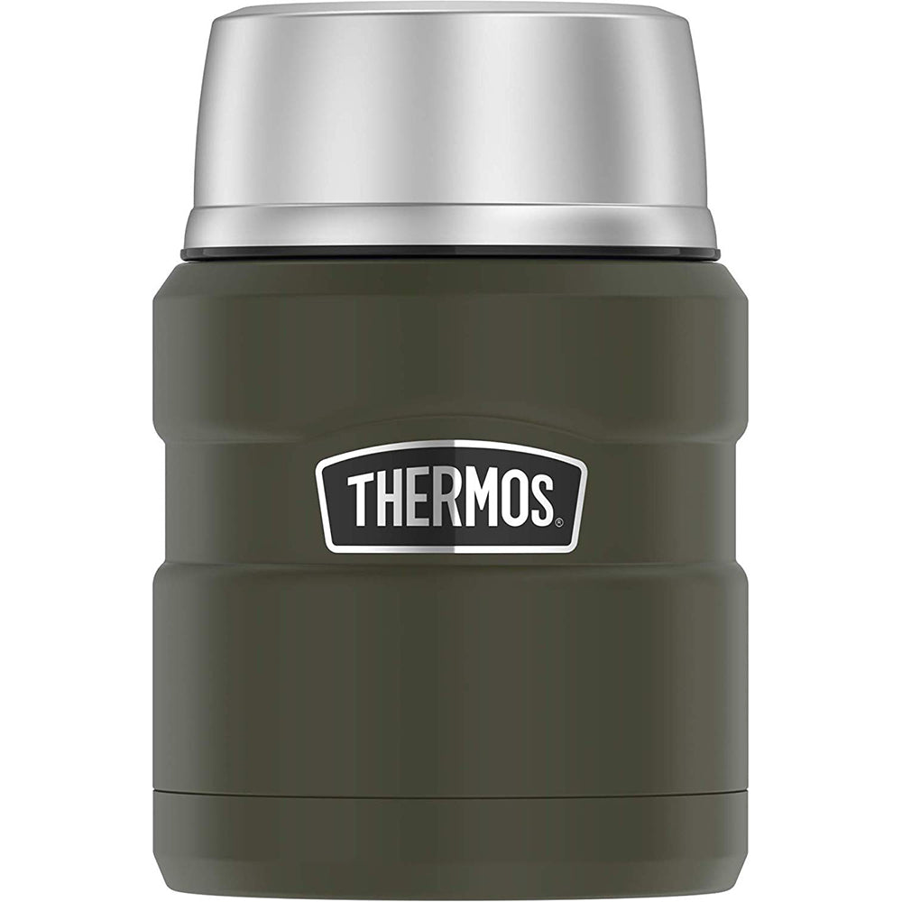 Thermos Stainless King Vacuum Insulated Stainless Steel Food Jar - 16oz - Matte Army Green [SK3000AGTRI4]
