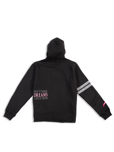 DCDCT Black Hoodie Flat Lay Back View
