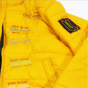 Dreams Embroidery Puffer Jacket