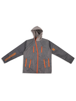 Load image into Gallery viewer, Grey Nylon Jacket Flat Lay Front View